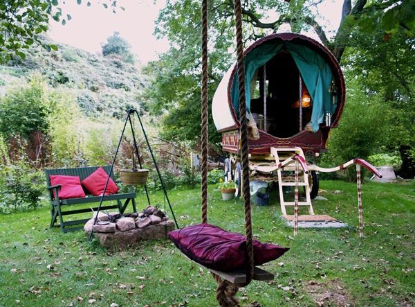 Gypsy Wagon, Tree Swing and Fire Pit