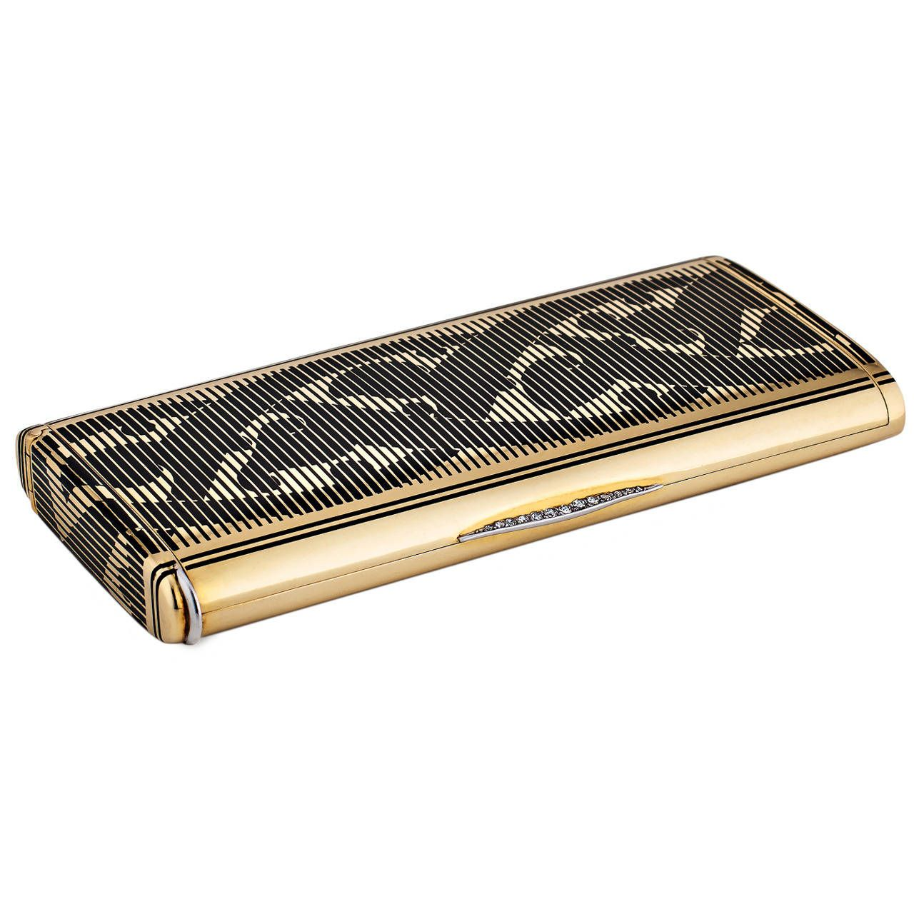 Cartier Art Deco Diamond Gold Necessaire | From a unique collection of vintage boxes and cases at https://www.1stdibs.com/jewelry/objets-dart-vertu/boxes-cases/