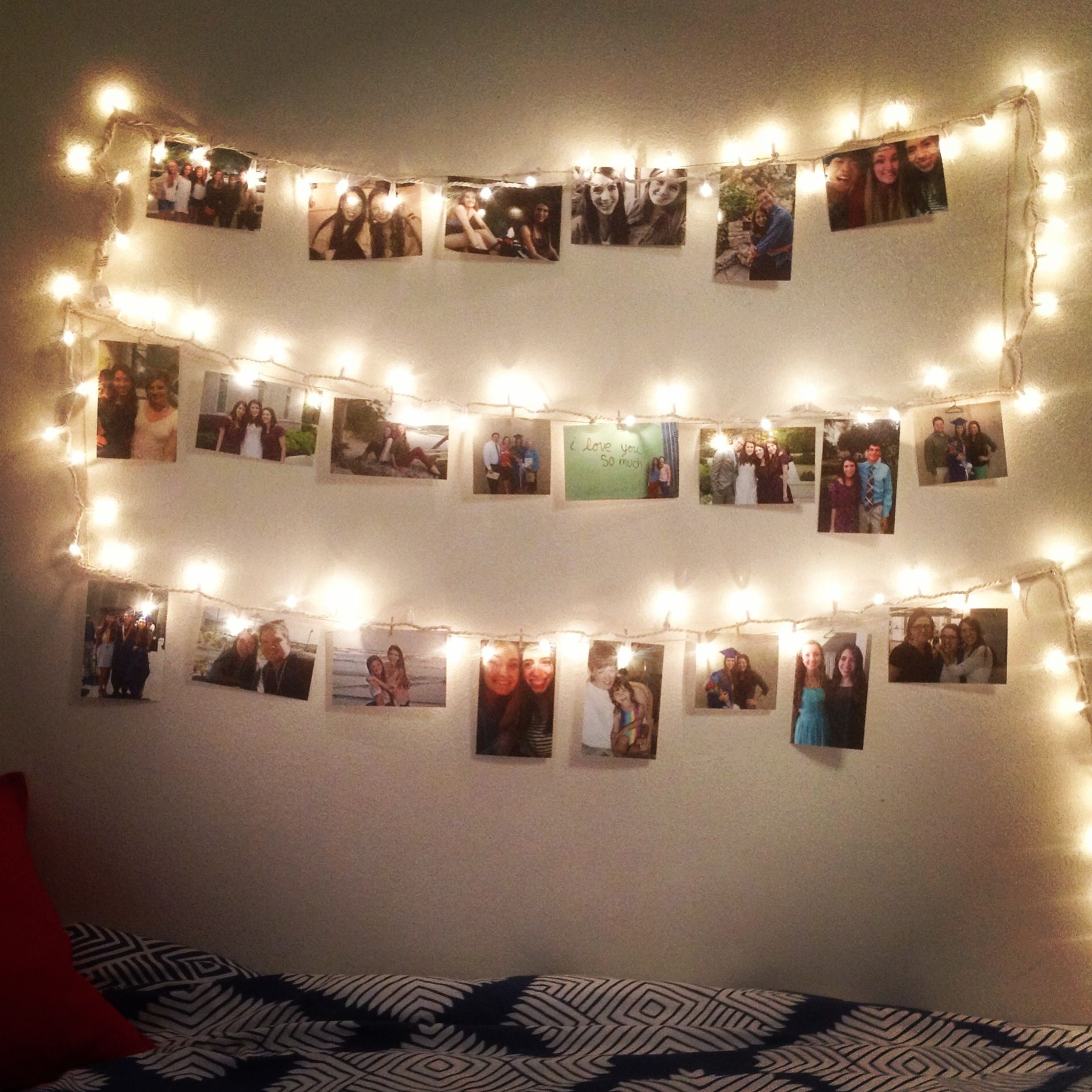 My Dorm Room Lights And Pictures Display✨ Part 75