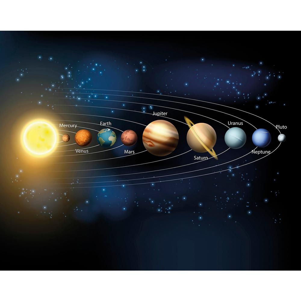 Brewster Planets Wall Mural Wals0270 The Home Depot Wall Murals Kids Wall Murals Planets