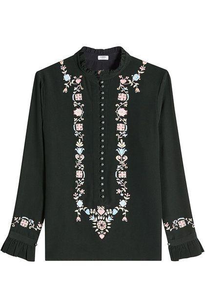 Embroidered Silk Blouse | Vilshenko