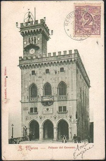San Marino - The Government Palace In 1904
