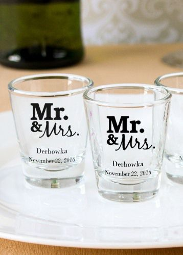Make A Toast With These Personalized Shot Gles Perfect For Weddings Showers And Birthdays