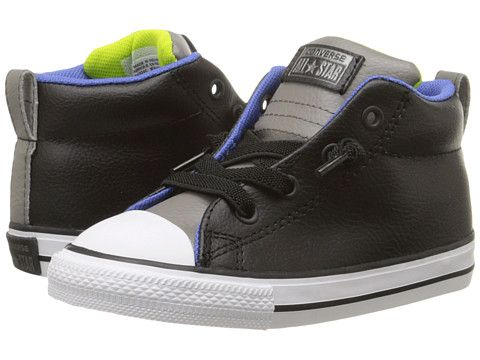 80c8b7d7154e93 Converse Kids Chuck Taylor® All Star® Street Mid Leather (Infant Toddler) -  6pm.com