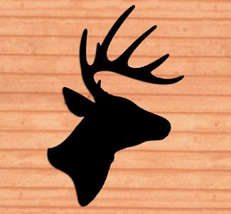 Awesome Giant Deer Head Shadow Woodcraft Pattern. Deer ArtProject IdeasCraft ...