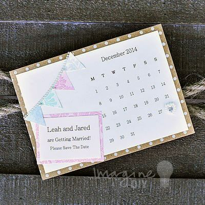 how to make save the date calendar diy wedding invitations diy