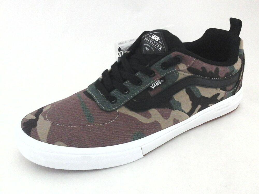 VANS Skate Shoes KYLE WALKER Camo Old Skool Pro Sneakers
