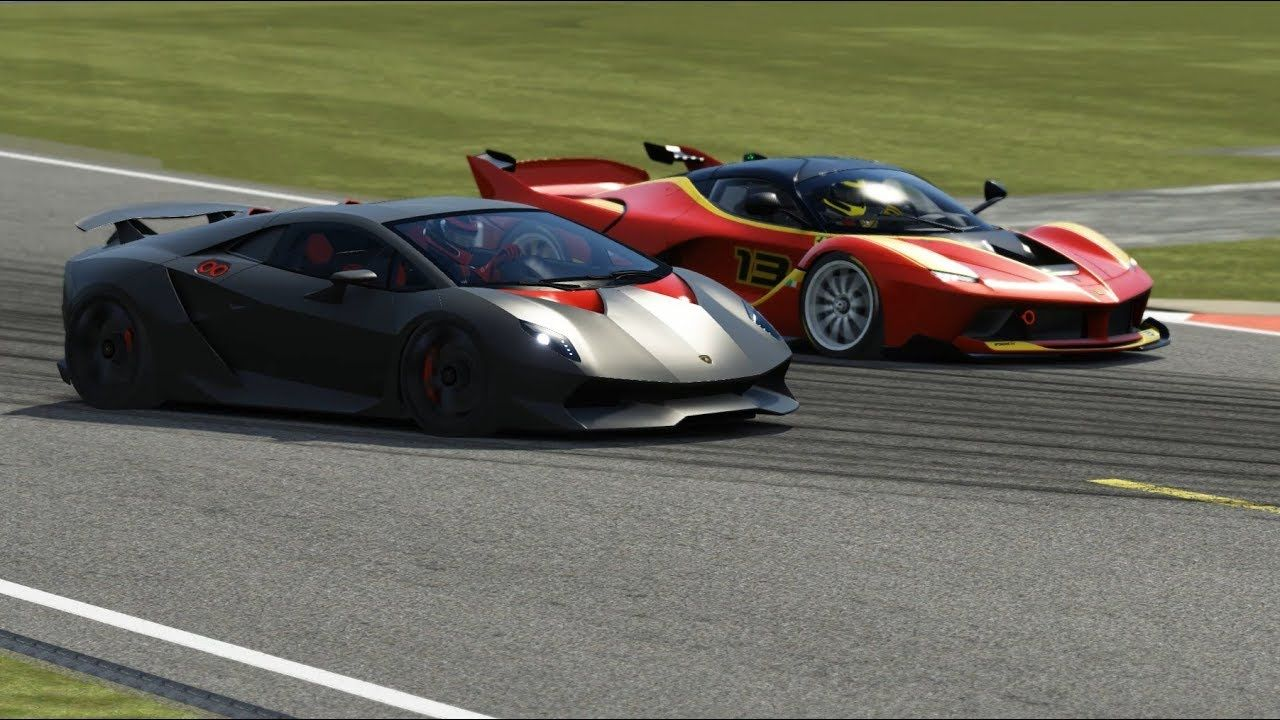 Ferrari FXX-K vs Lamborghini Sesto Elemento at Top Gear #ferrarifxx
