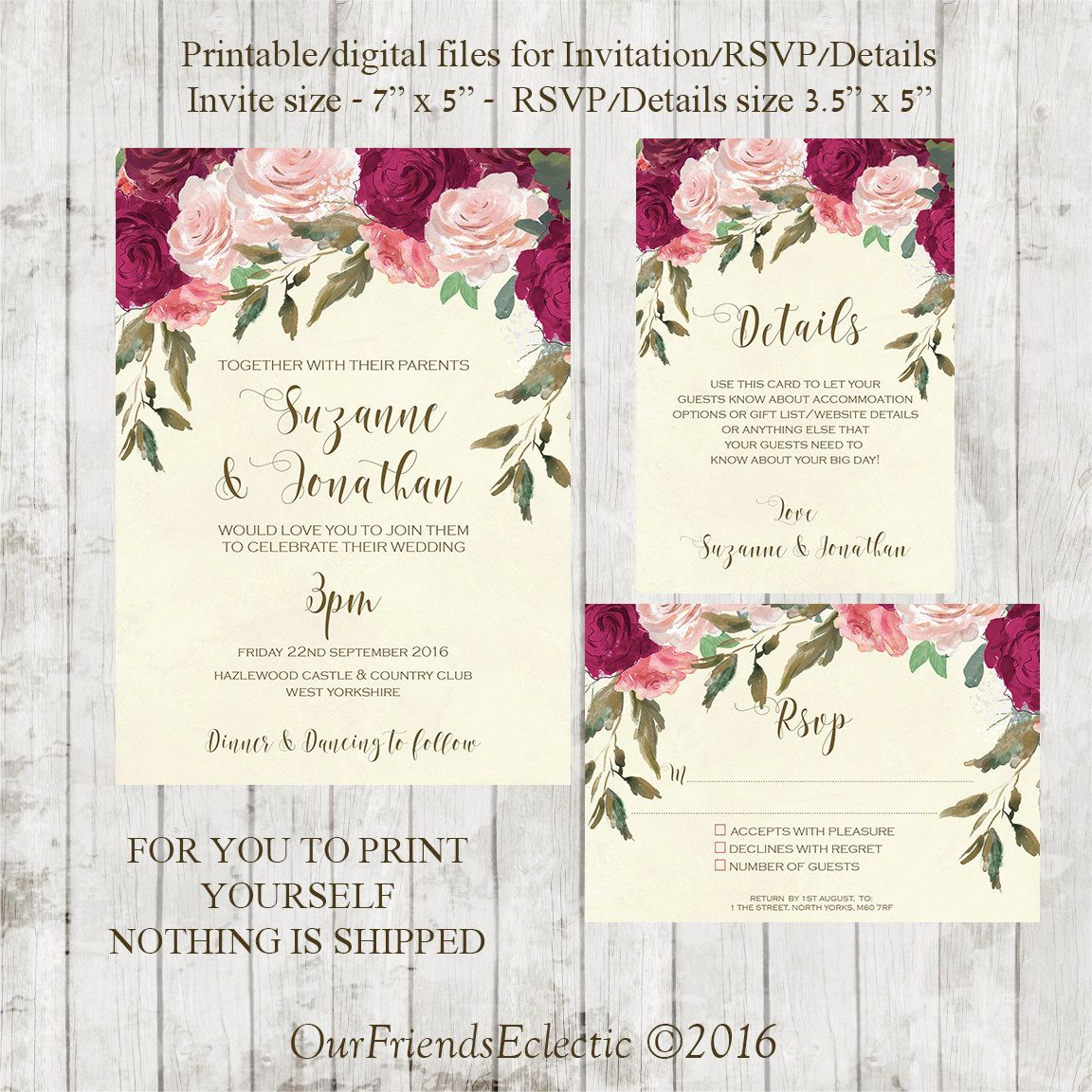 Pin Di Affordable Wedding Invitations