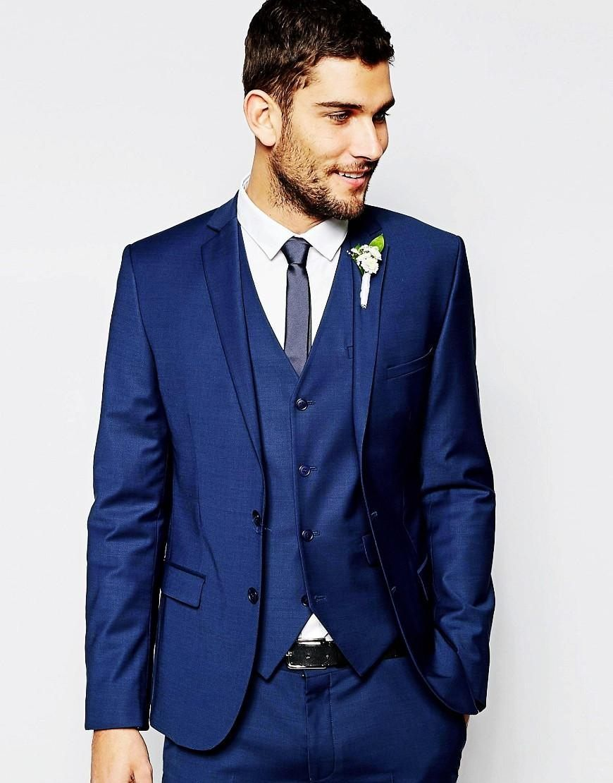 Click to Buy << Fashionable Mens Suits Groomsmen Groom Tuxedos ...