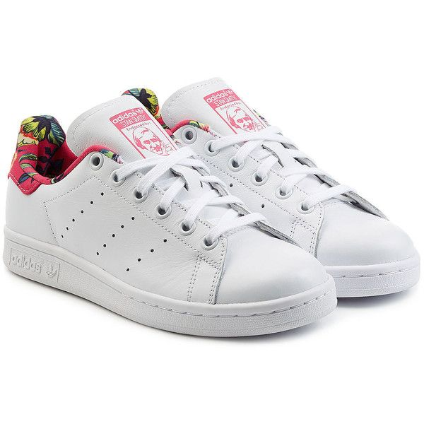 Adidas Originals Stan Smith tropical Print Leather Sneakers