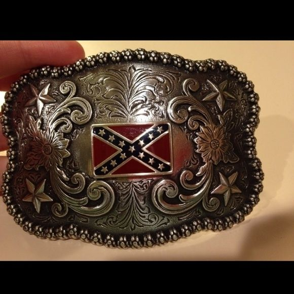 Rebel flag belt buckle Rebel flag belt buckle. Never worn. No flaws. Accessories Belts