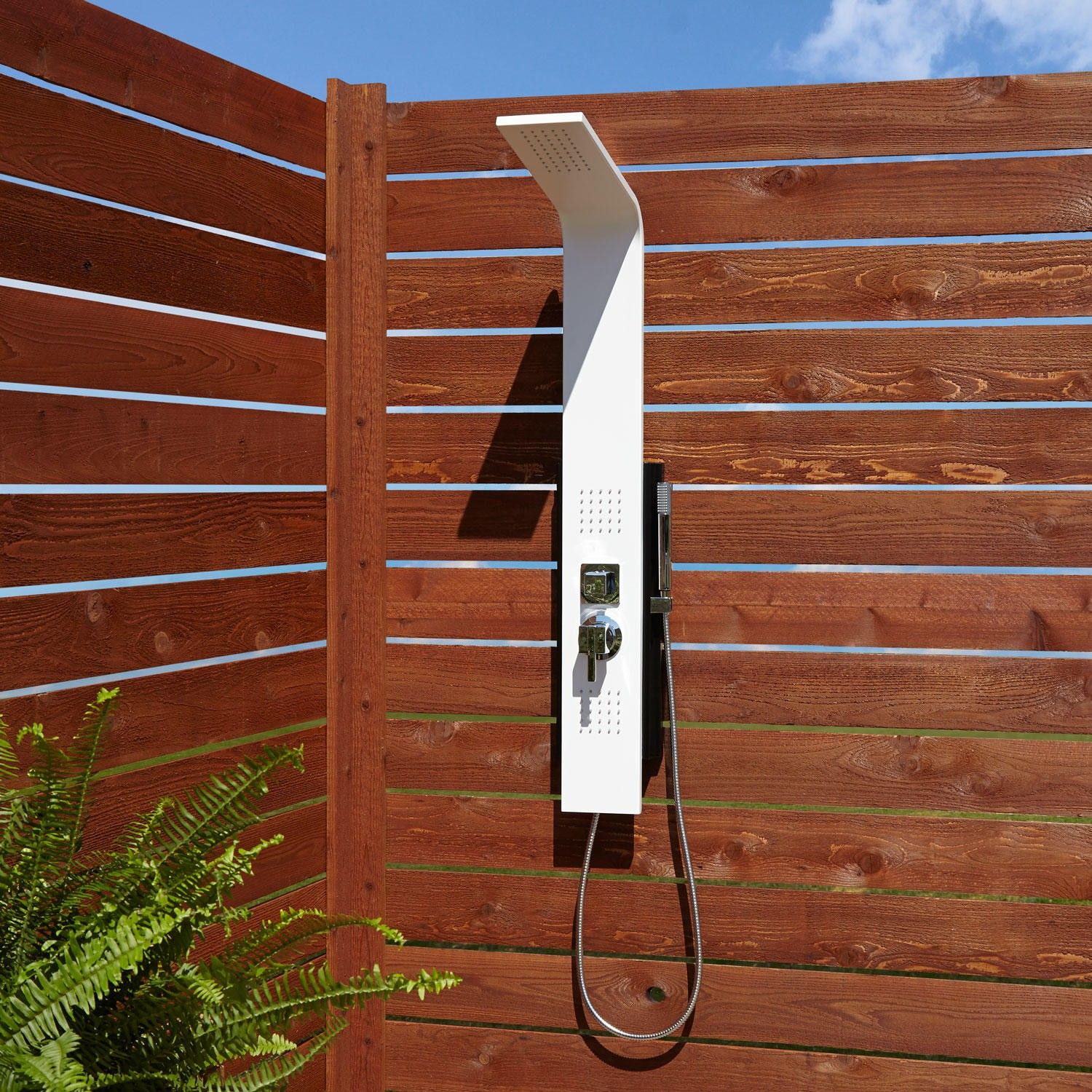 Carrollton Two Jet Outdoor Shower Panel With Hand Wall Mount Showers