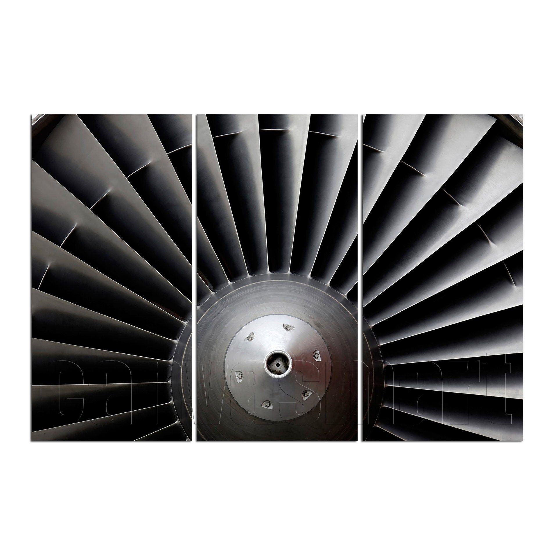 Airplane Aircraft Turbine Turbofan Engine Propeller ...