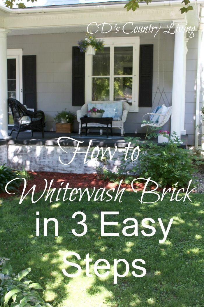 whitewash the pinkish gray exterior brick it would be a big job rh pinterest com