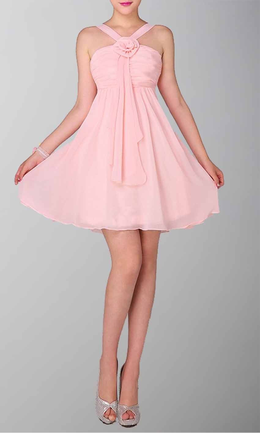 cute halte girly pink graduation dresses KSP087  84976cb43