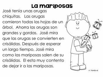 Reading Comprehension Passages #3 in Spanish comprensión | Educacion ...
