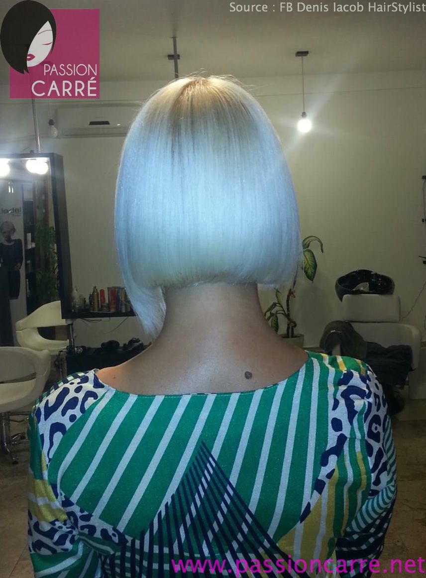 carré plongeant asymetrique platine 03 asymetrical blond platinum bob haircut | Teased hair ...