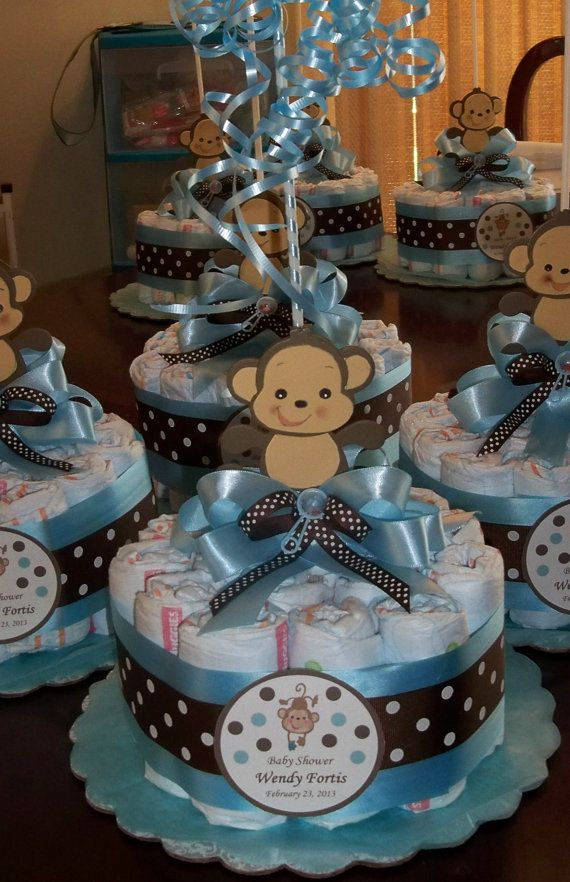 Baby Shower Diapers Centerpiece With Balloon By Designsbyemilys