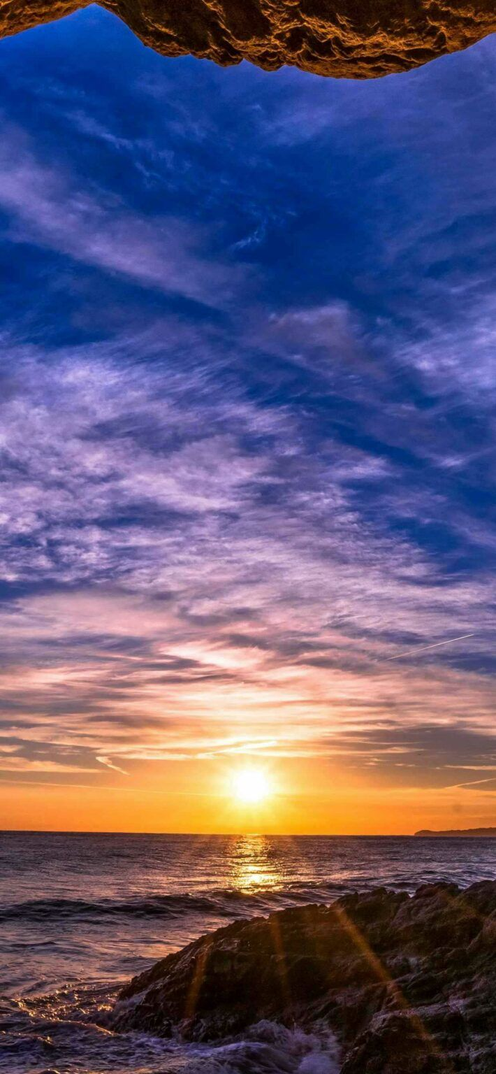 Iphone X Wallpapers Sunset horizon sea Hd Best Home