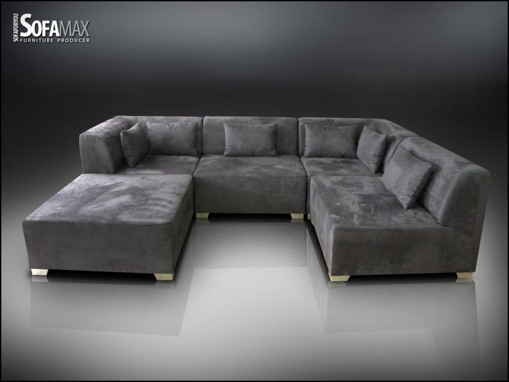 Grey Recliner Couch Living Room