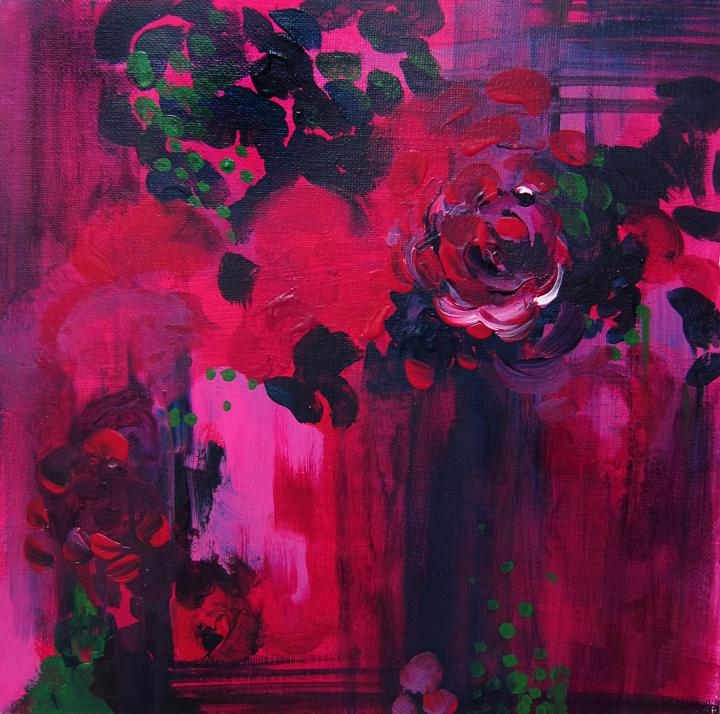 """Night Garden"" Original Painting on Chairish.com"