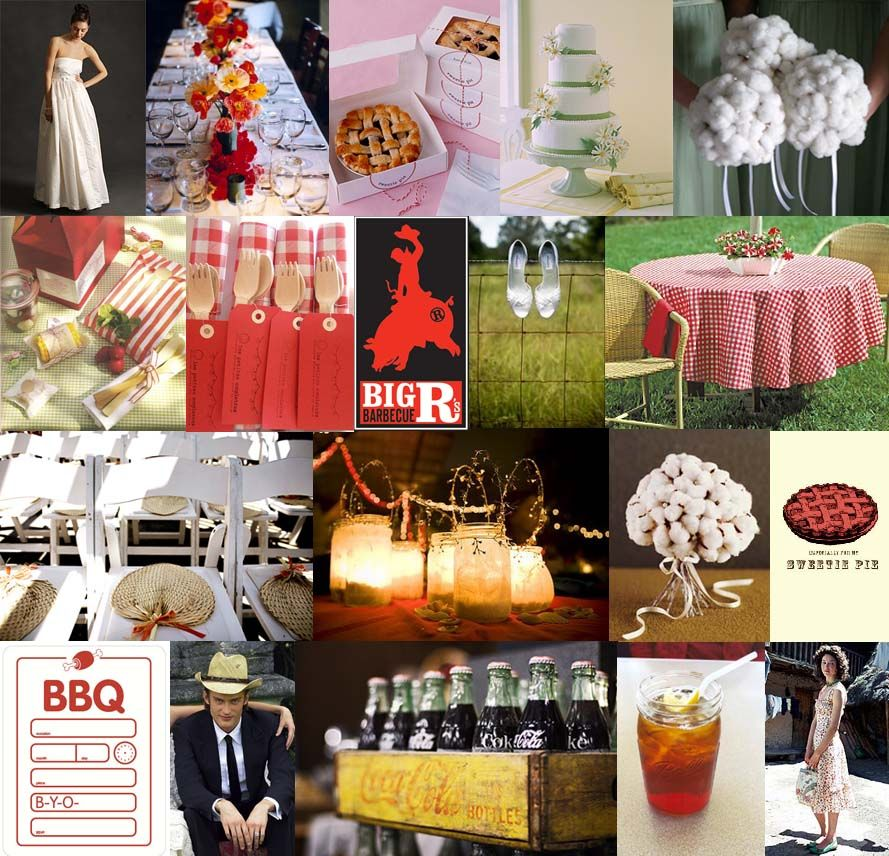 Bbq Wedding Reception Ideas: Country And Rustic Wedding Inspiration, Backyard BBQ