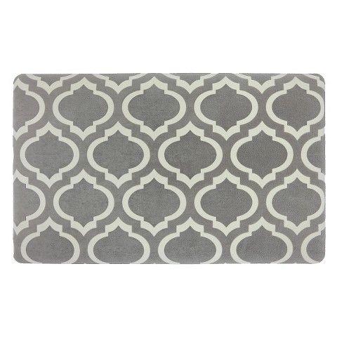 Superb Threshold™ Fretwork Rejuvenation Comfort Mat   Gray
