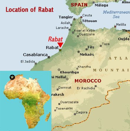 Morocco location map