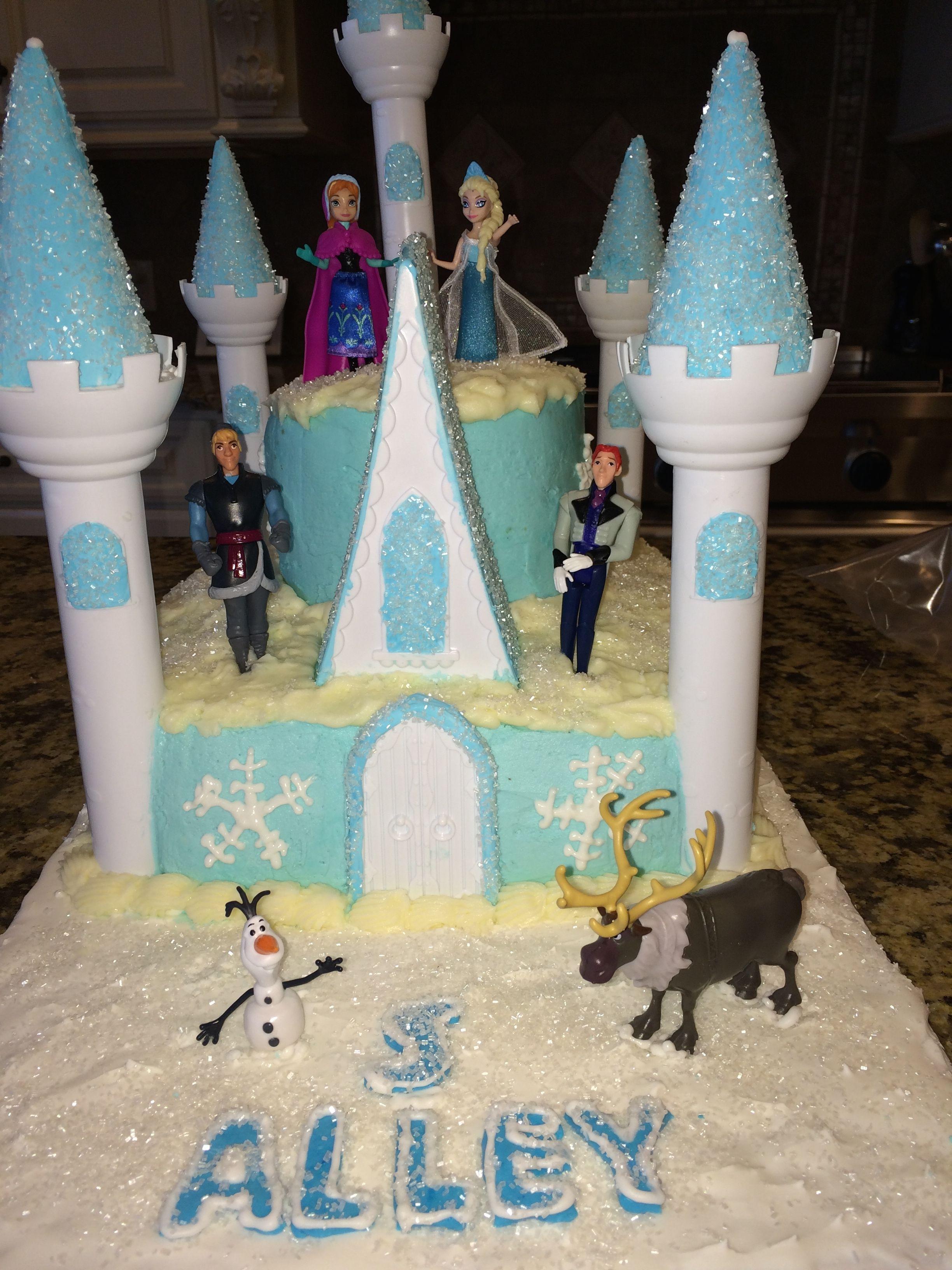 Frozen Ice Castle Birthday Cake I used the Wilton Romantic Castle