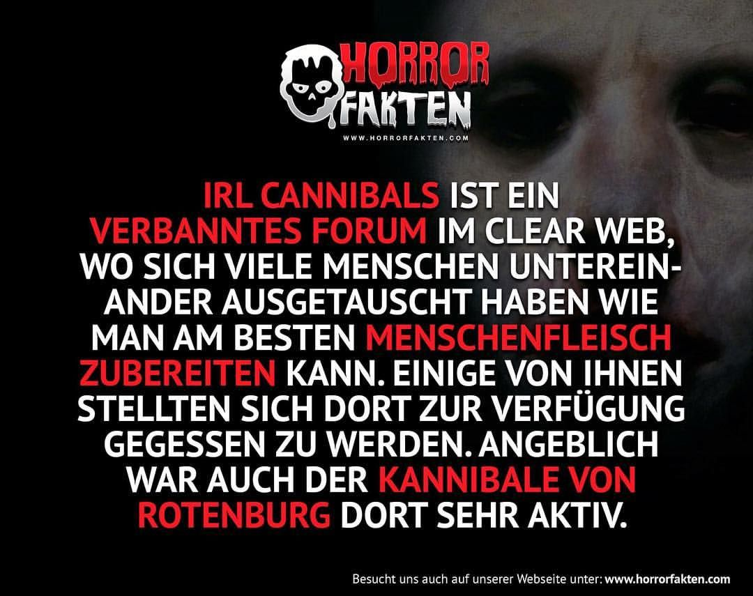 Kannibalen Forum #horrorfakten Hannibal Lecter hat das Forum