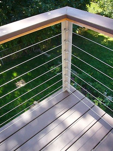 Deck railing modern deck and decking - Decke modern ...