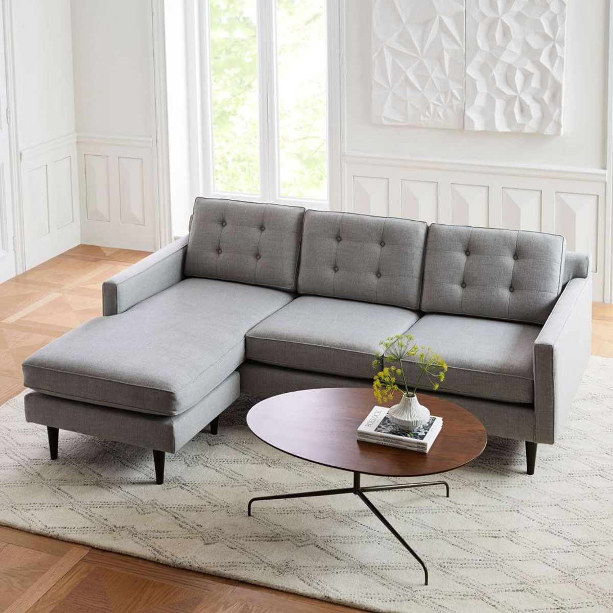 Drake Reversible Sectional West Elm Canada Most Comfortable Couch Comfortable Couch Furniture