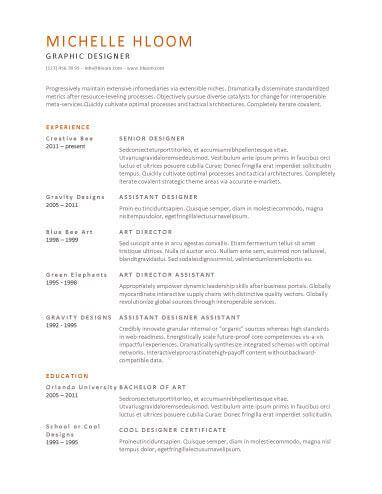 Senior Graphic Designer Resume Amusing Chronological Resumehloom  Aaaaa  Pinterest  Sample Resume