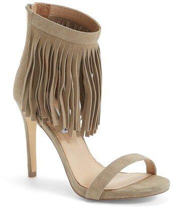 Steve Madden 'Staarz' Ankle Fringe Sandal (Women) Click on image for more information (sizes, colors, etc.) #women #fashion #shoes #fringe #sandal