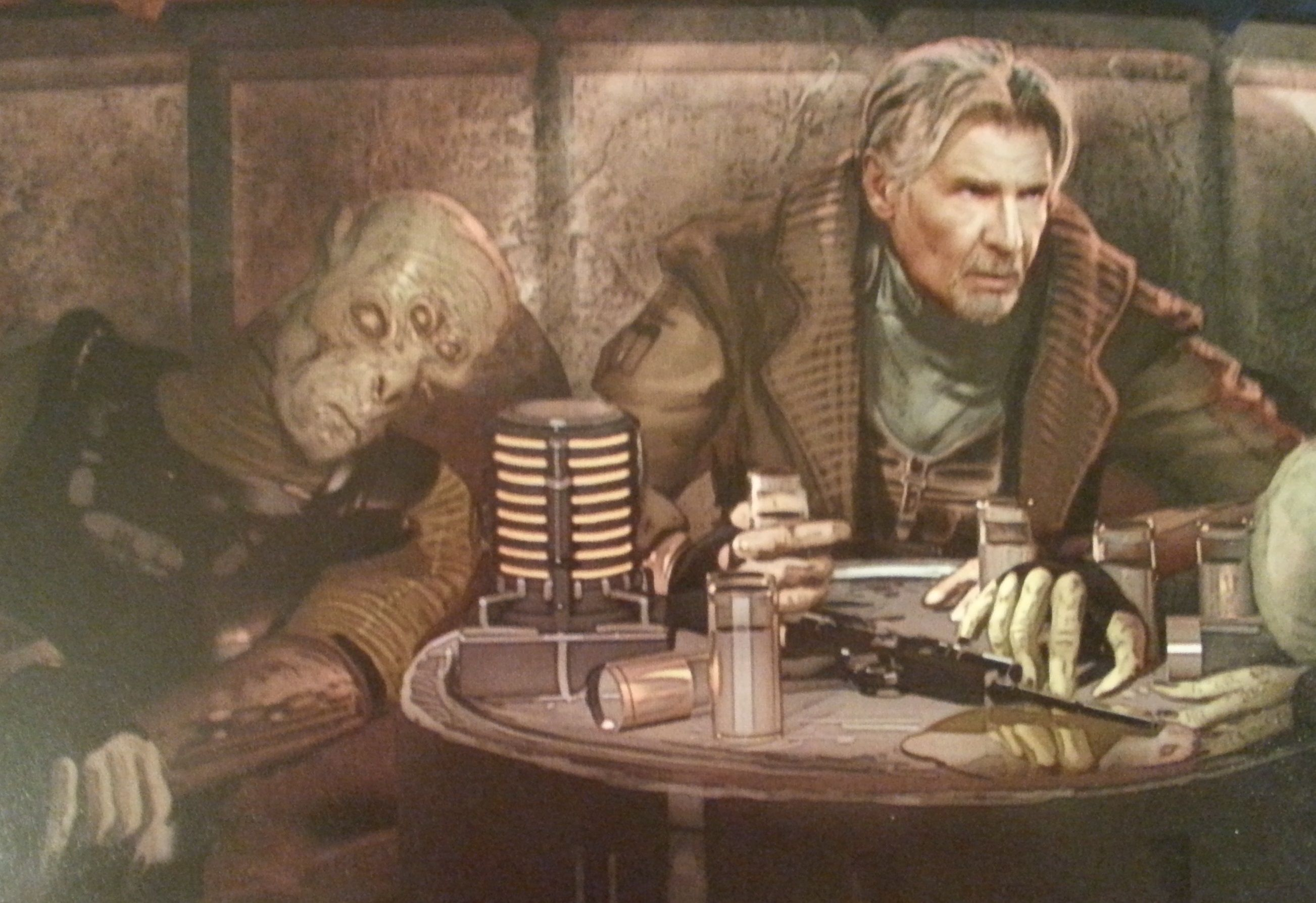 The Art of Star Wars: The Force Awakens // Han in Cantina