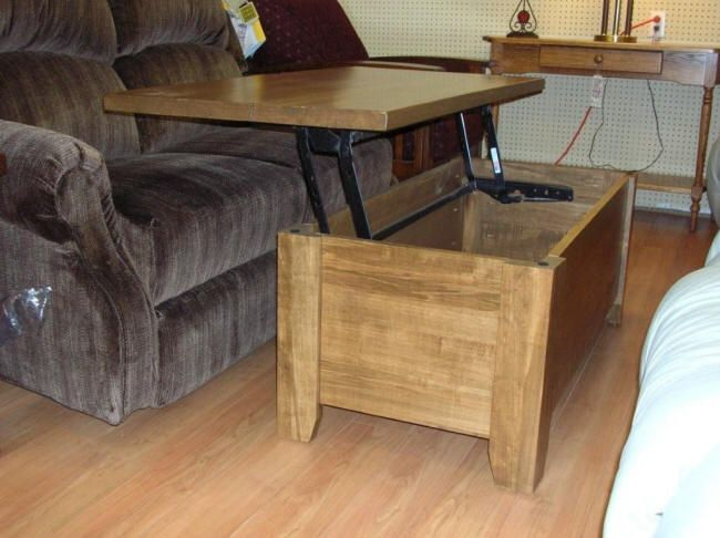coffee table, square coffee table, pop up coffee table, storage