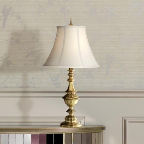 Stiffel Abigail Satin Brass Metal Urn Table Lamp 6x985 Lamps Plus Lamp Table Lamp Satin Brass