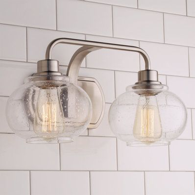 vintage bathroom lighting. Seeded Globe Vintage Bath Light - 2 Bathroom Lighting