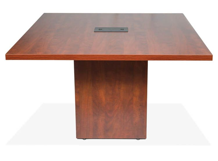 Standing Height Conference Table With Cube Base By Office Source - Office source conference table