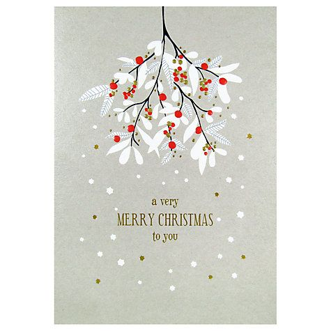 Art File Mistletoe Christmas Card