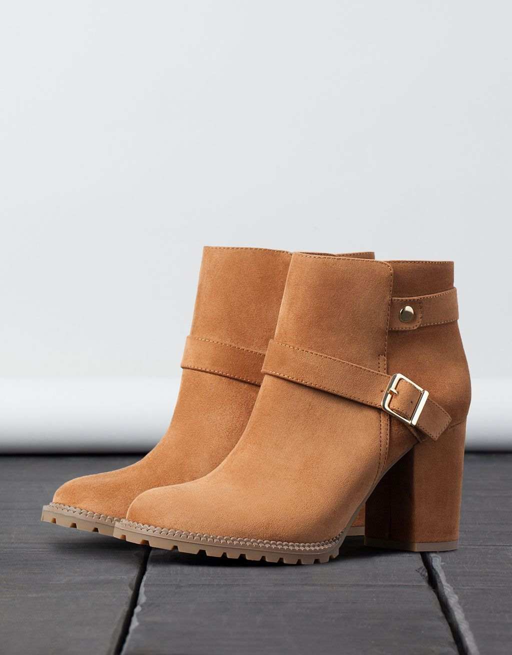 2404ad7e4bbdf BSK buckled heel ankle boots in 2019 | Shoes! Heel Boots | Shoes ...