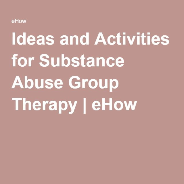 Ideas And Activities For Substance Abuse Group Therapy Marriage