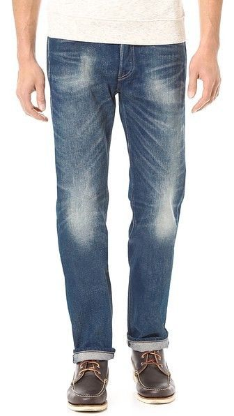 Levi's Made & Crafted New Mens Ruler Straight Driftwood Jean Blue 31x34 NWT $215 #LevisMadeCrafted #SlimStraight
