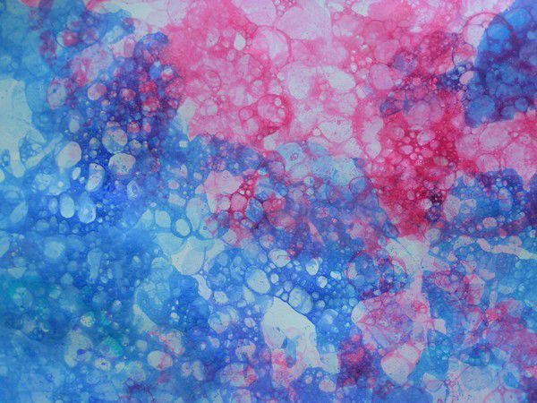 Encre et produit vaisselle donnent un fond tr s joli for Art plastique peinture