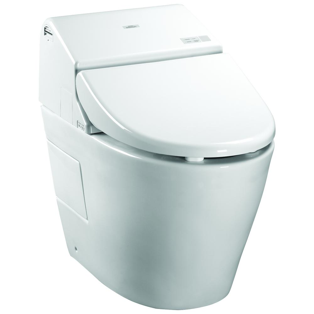 TOTO Neorest 550H 1-Piece 0.8/1.0 GPF Dual Flush Elongated Toilet in ...