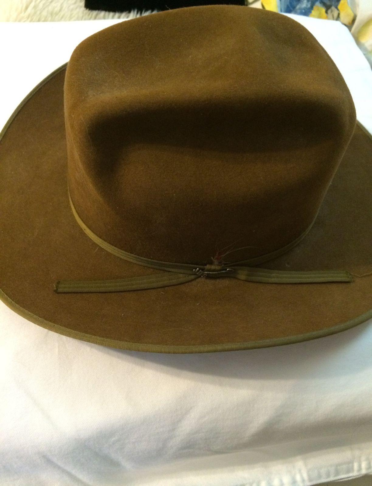 ee2e3184 Vintage Cowboy Hat - Stetson cowboy hat - Vintage - 3x beaver felt 7 1/8  size - Hats #evintage