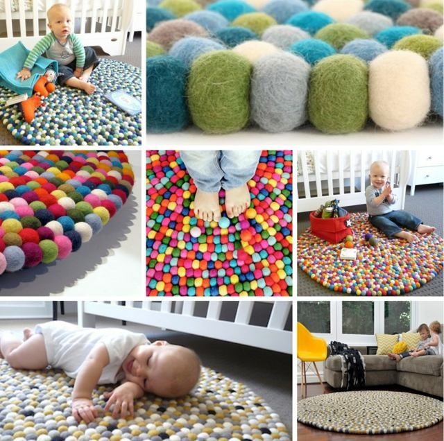 rundes Teppich handgemacht Naturmaterialien DIY i rękodzieło - teppich für küche