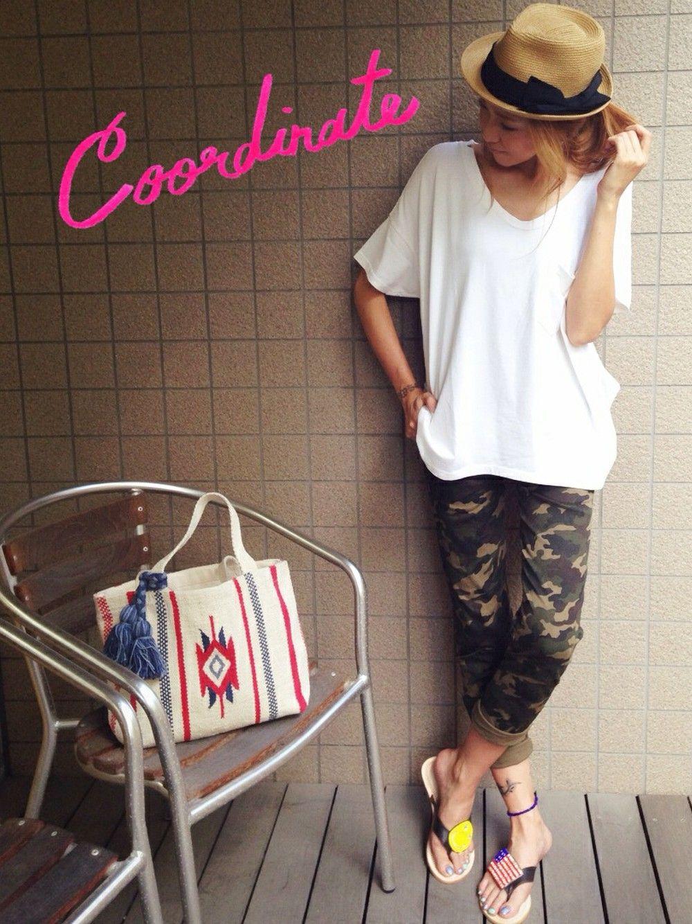 kayo│Ray BEAMSのTシャツ・カットソーコーディネート-WEAR