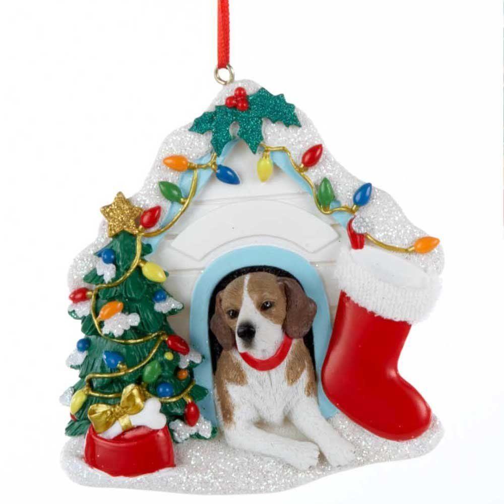 Amazon Com Kurt Ader 3 75 Beagle In Christmas Decorated Dog
